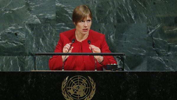 Президент Эстонской Республики Керсти Кальюлайд на 72-й Генеральной Ассамблее ООН - Sputnik Latvija