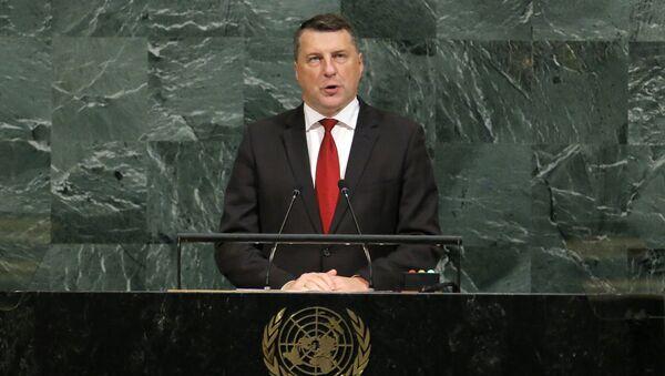 Президент Латвии Раймондс Вейонис на 72-й Генеральной Ассамблее ООН - Sputnik Латвия
