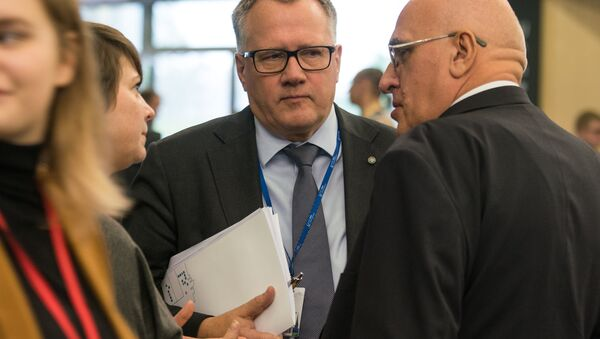 Министр экономики Латвии Арвилс Ашераденс - Sputnik Латвия