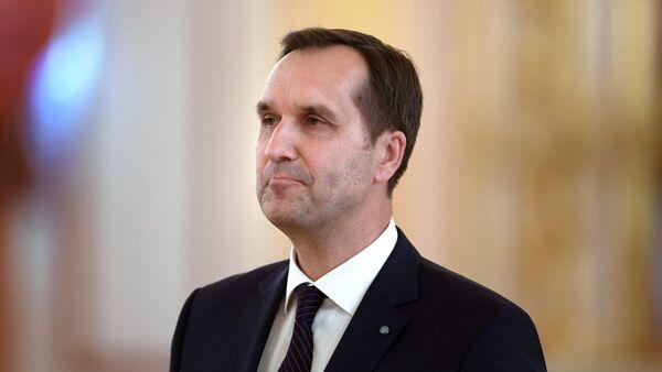 Чрезвычайный и полномочный посол Латвийской Республики Марис Риекстиньш, 3 октября 2017 - Sputnik Латвия
