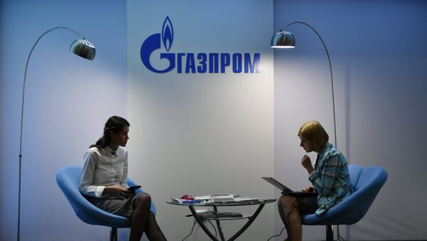 Стенд компании Газпром - Sputnik Латвия