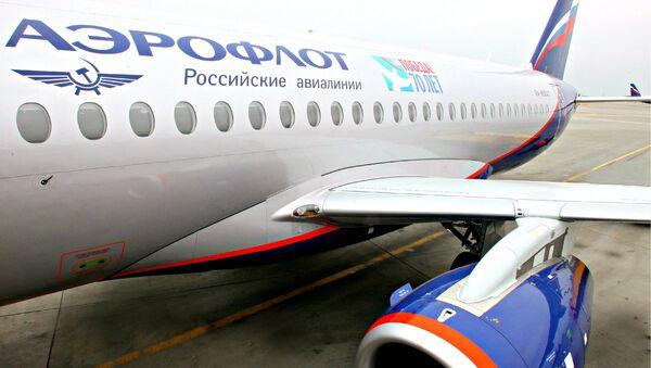 Самолет Аэрофлота с символикой 70-летия Великой Победы - Sputnik Latvija