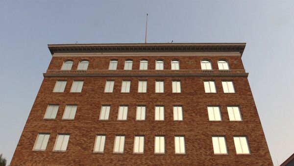 С генконсульства РФ в Сан-Франциско убрали российский флаг - Sputnik Latvija