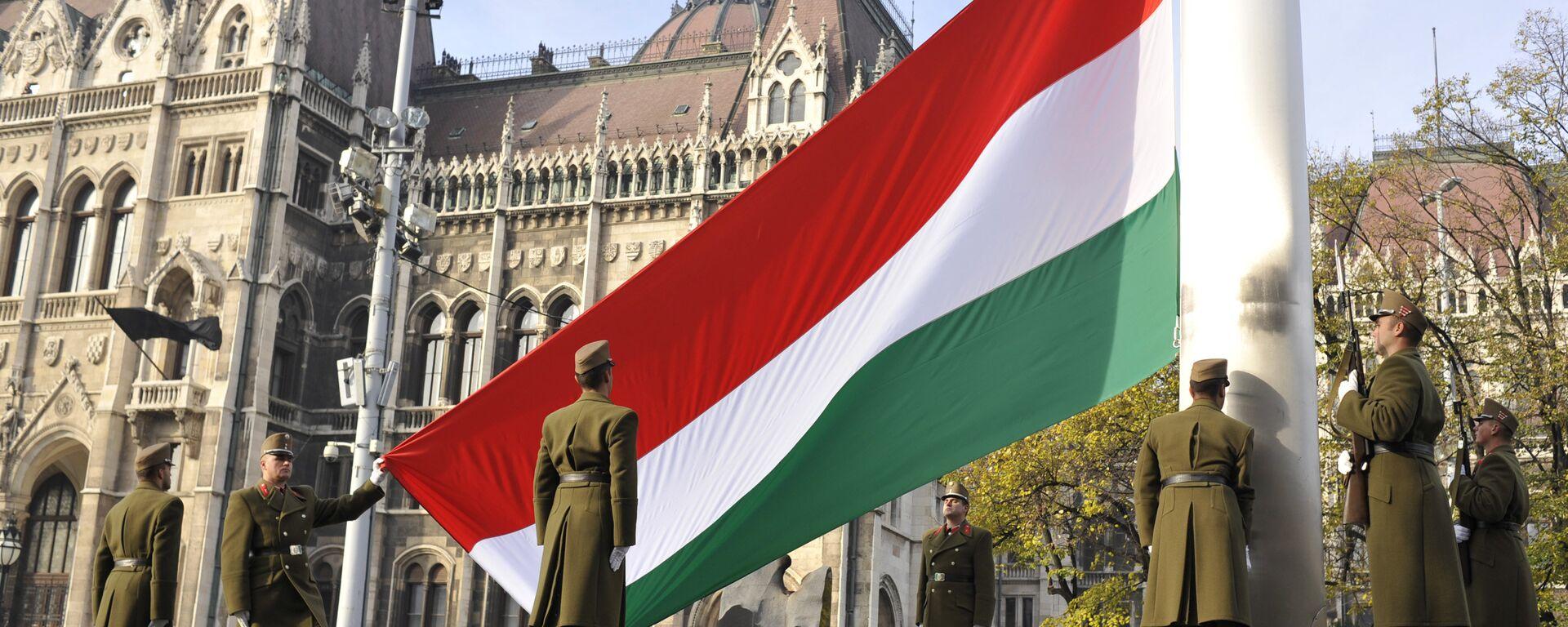 Поднятие национального флага Венгрии в Будапеште - Sputnik Латвия, 1920, 29.06.2021