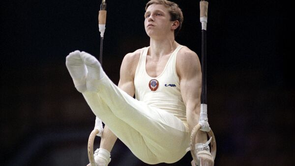 Гимнаст Виталий Щербо, 1991 год - Sputnik Латвия