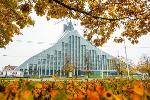 Золотая осень на рижских улицах - Sputnik Латвия