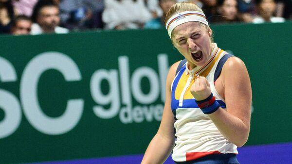Теннисистка Елена Остапенко на итоговом турнире года в Сингапуре - Sputnik Латвия