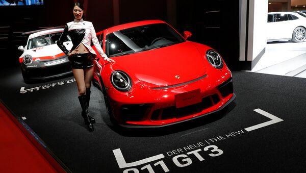 Купе Porsche 911 GT3 на автосалоне Tokyo Motor Show 2017 - Sputnik Латвия