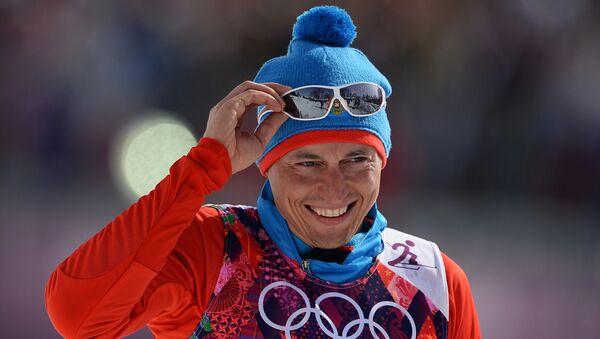 Александр Легков (Россия), Олимпиада -2014. Лыжные гонки. Мужчины. Масс-старт - Sputnik Латвия