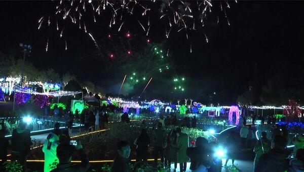 Šovs 4D formātā: Dienvidkorejā startē gaismas festivāls - Sputnik Latvija