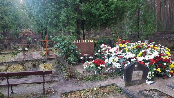 Могила Михаила Задорнова на кладбище в Яундубулты - Sputnik Латвия