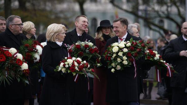 Neatkarības dienas svētku svinīgā ceremonija - Sputnik Latvija