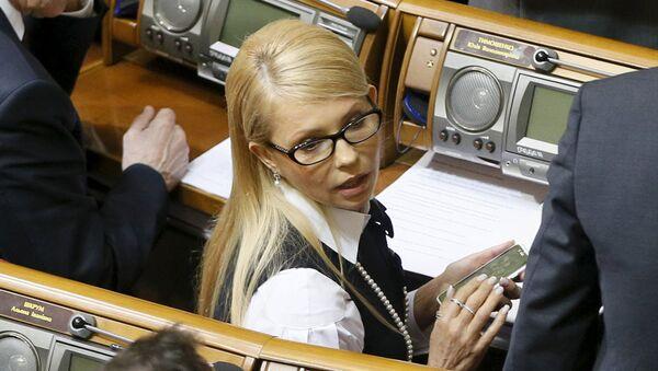 Лидер фракции Батькивщина Юлия Тимошенко на заседании Рады - Sputnik Латвия