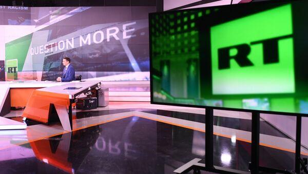 Офис телеканала RT в Москве - Sputnik Латвия