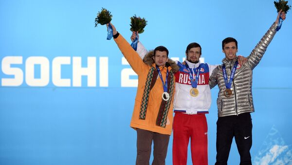 Мартинс Дукурс (Латвия), Александр Третьяков (Россия), Мэттью Энтуан (США) (слева направо) - Sputnik Латвия