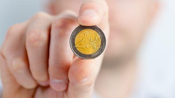 Монета 2 евро - Sputnik Latvija