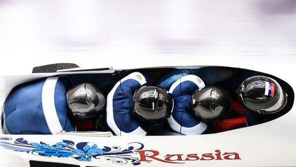 Олимпиада 2014. Бобслей. Мужчины. Четверки. Первый день - Sputnik Латвия