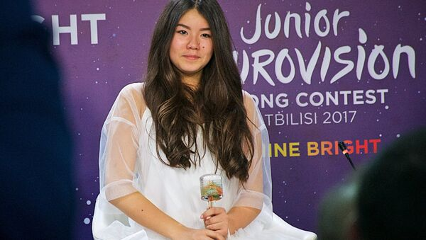 Poļina Boguseviča, konkursa Bērnu Eirovīzija 2017 konkursa fināliste - Sputnik Latvija