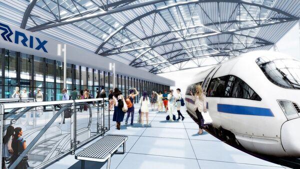 Визуализация проекта Rail Baltica - Sputnik Latvija