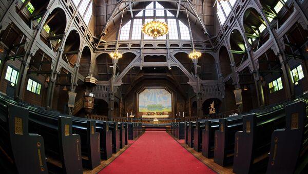 Церковь в шведском городе Кируна - Sputnik Латвия