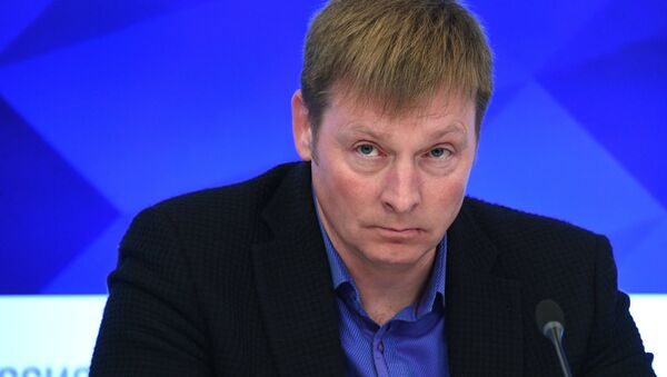Президент Федерации бобслея России, олимпийский чемпион Александр Зубков - Sputnik Латвия