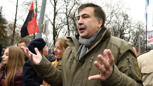 Бывший президент Грузии, экс-губернатор Одесской области Михаил Саакашвили - Sputnik Латвия