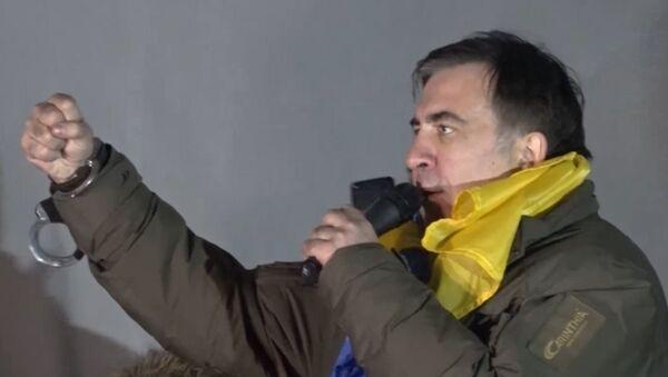 Saakašvili mītiņā pie Ukrainas parlamenta - Sputnik Latvija