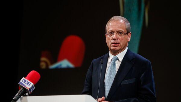 Андрис Америкс на съезде партии Согласие - Sputnik Латвия