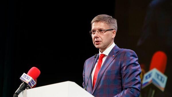Нил Ушаков на съезде партии Согласие - Sputnik Latvija