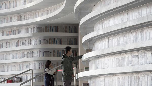В китайском городе Тяньцзинь открылась библиотека Биньхай, Китай - Sputnik Латвия