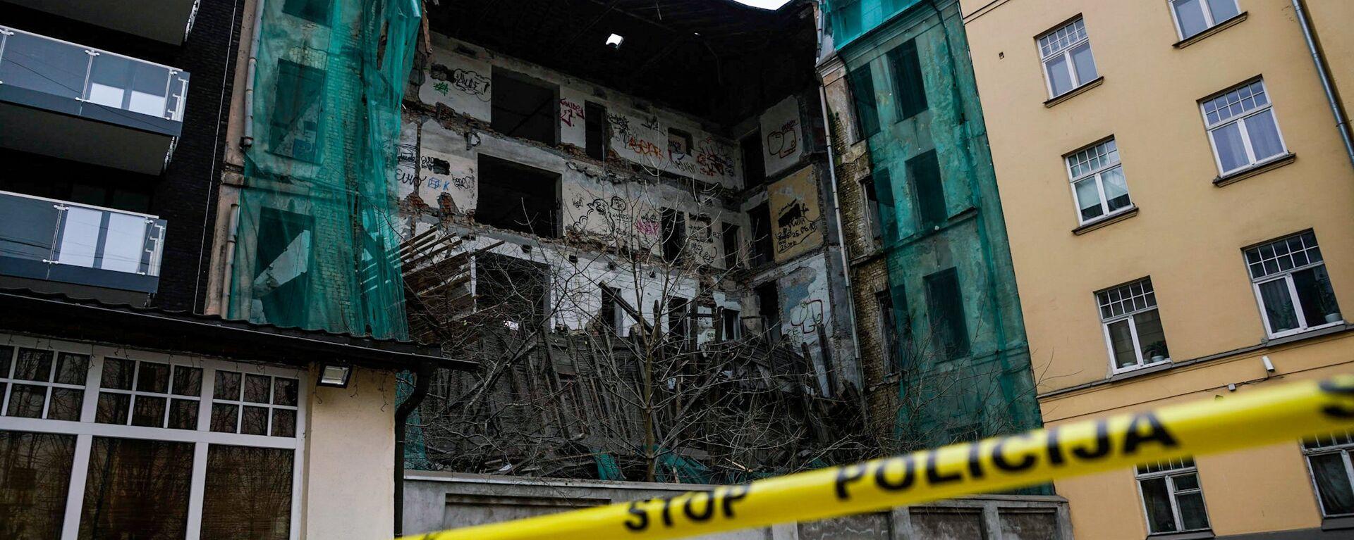 Обрушение здания в центре Риги - Sputnik Латвия, 1920, 11.12.2017