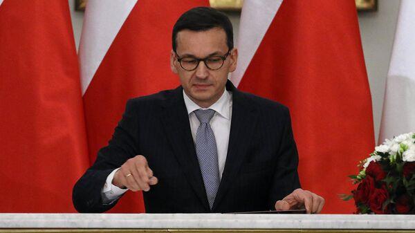 Премьер-министр Польши Матеуш Моравецкий - Sputnik Latvija