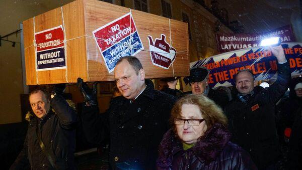 Акция в защиту русских школ в Риге 14 декабря 2017 года - Sputnik Латвия