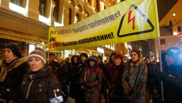 Акция в защиту русских школ в Риге, 14 декабря 2017 года - Sputnik Латвия