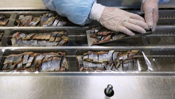 На предприятии по переработке рыбы - Sputnik Latvija