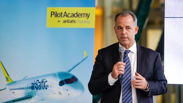 Председатель правления авиакомпании airBaltic Мартин Гаусс - Sputnik Latvija