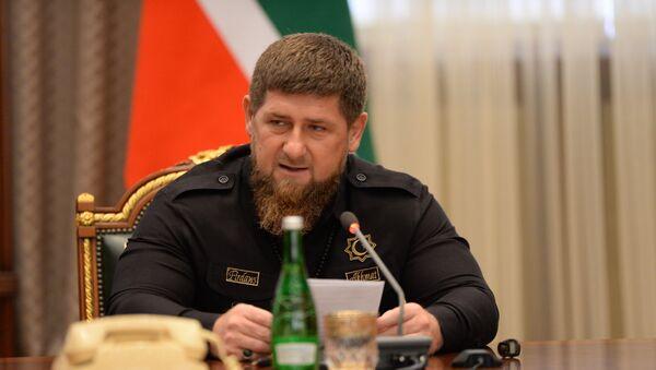 Глава Чеченской Республики Рамзан Кадыров - Sputnik Latvija