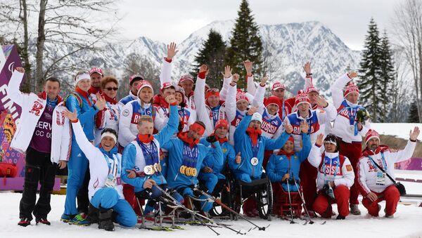 Сборная России по лыжным гонкам и биатлону - Sputnik Латвия
