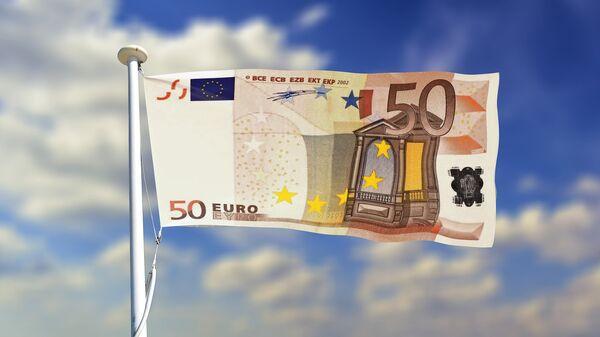 Флаг евробанкнота - Sputnik Латвия