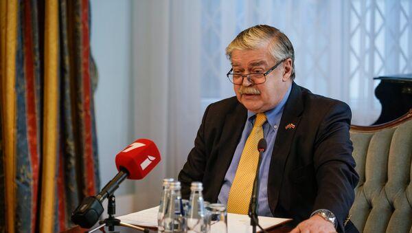Пресс-конференция посла РФ в Латвии Евгения Лукьянова - Sputnik Latvija