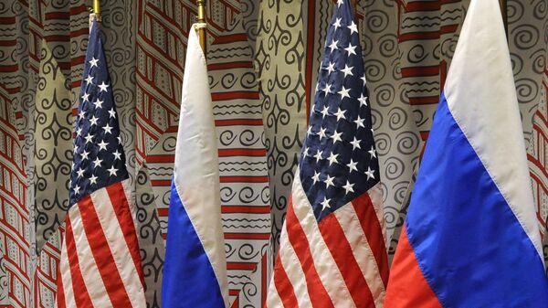 Флаги России и США - Sputnik Латвия