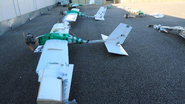 Беспилотники, участвовавшие в атаке на российские военные объекты в Сирии - Sputnik Латвия