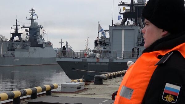 Корабли Балтфлота вернулись на базу после морского похода - Sputnik Латвия