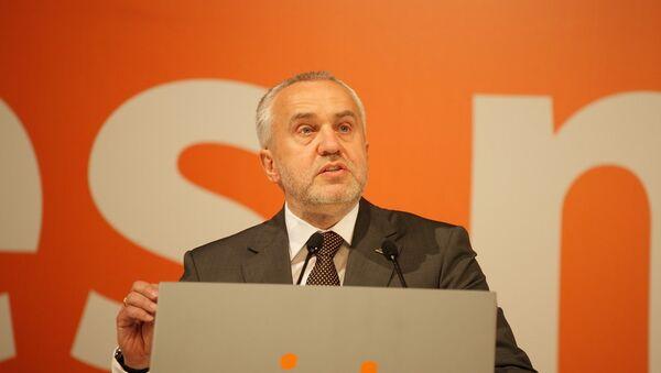 Андрис Шкеле на пятнадцатом конгрессе Народной партии - Sputnik Латвия