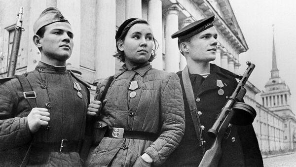 Защитники Ленинграда во время блокады - Sputnik Латвия