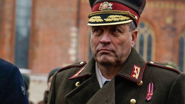 Командующий НВС Латвии Леонид Калныньш - Sputnik Латвия