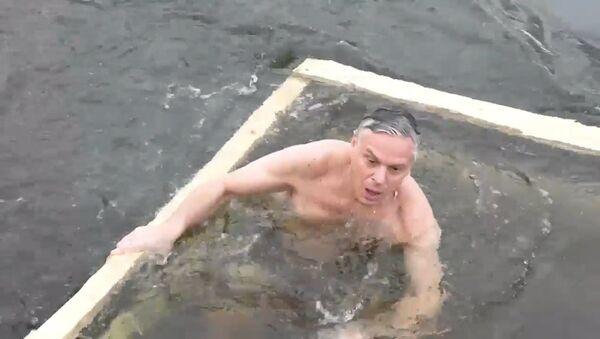 Крещенское купание посла США в РФ - Sputnik Latvija