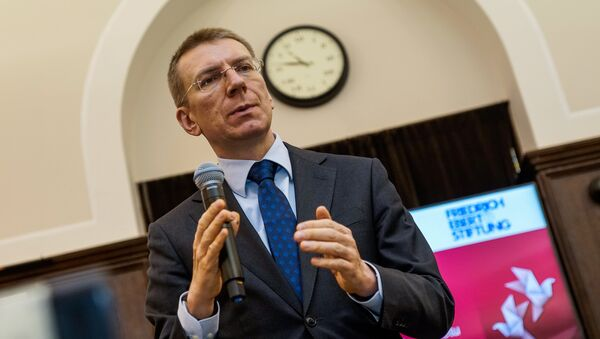 Министр иностранных дел Латвии Эдгарс Ринкевичс - Sputnik Latvija