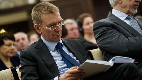 Министр иностранных дел Латвии Эдгарс Ринкевичс - Sputnik Латвия