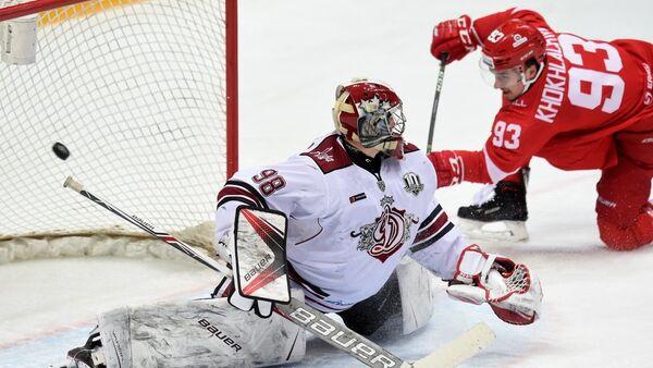 Матч между командами ХК Спартак (Москва) - ХК Динамо (Рига) - Sputnik Латвия